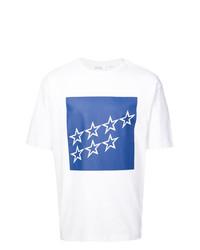 T-shirt à col rond à étoiles blanc Calvin Klein 205W39nyc