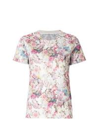 T-shirt à col rond à fleurs blanc Golden Goose Deluxe Brand