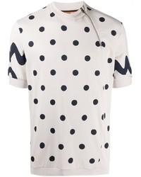 T-shirt à col rond á pois blanc Paul Smith
