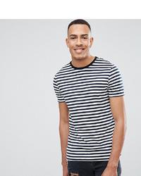 T-shirt à col rond à rayures horizontales blanc et bleu marine ASOS DESIGN