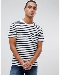 T-shirt à col rond à rayures horizontales blanc et noir Abercrombie & Fitch