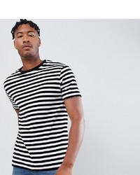 T-shirt à col rond à rayures horizontales blanc et noir ASOS DESIGN