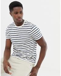T-shirt à col rond à rayures horizontales blanc et noir J.Crew Mercantile