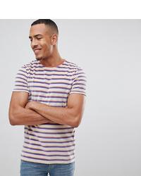 T-shirt à col rond à rayures horizontales blanc et rouge et bleu marine ASOS DESIGN