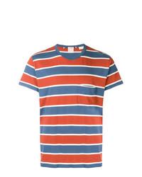 T-shirt à col rond à rayures horizontales blanc et rouge et bleu marine Levi's Vintage Clothing