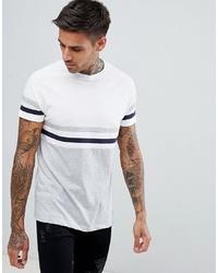 T-shirt à col rond à rayures horizontales blanc ASOS DESIGN