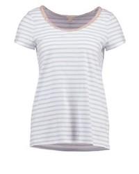 T-shirt à col rond à rayures horizontales bleu clair Esprit