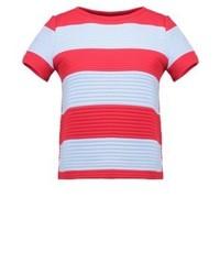 T-shirt à col rond à rayures horizontales bleu clair iBlues