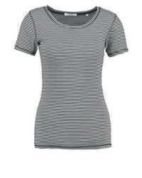 T-shirt à col rond à rayures horizontales bleu clair Opus