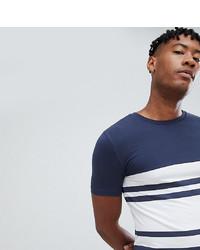 T-shirt à col rond à rayures horizontales bleu marine et blanc ASOS DESIGN
