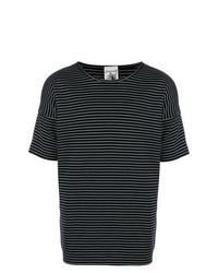T-shirt à col rond à rayures horizontales bleu marine et blanc S.N.S. Herning