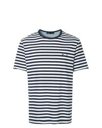 T-shirt à col rond à rayures horizontales bleu marine et blanc The Upside