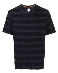 T-shirt à col rond à rayures horizontales bleu marine Paul Smith