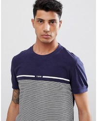T-shirt à col rond à rayures horizontales bleu marine Tom Tailor