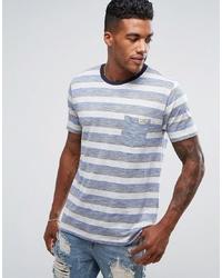 T-shirt à col rond à rayures horizontales gris Brave Soul