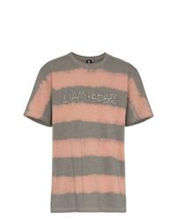 T-shirt à col rond à rayures horizontales gris Liam Hodges