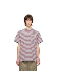 T-shirt à col rond à rayures horizontales gris Rassvet