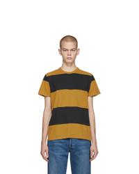 T-shirt à col rond à rayures horizontales moutarde Levis Vintage Clothing
