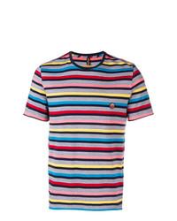 T-shirt à col rond à rayures horizontales multicolore Missoni Mare