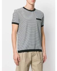 T-shirt à col rond à rayures horizontales noir et blanc Orlebar Brown