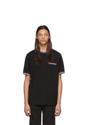 T-shirt à col rond à rayures horizontales noir Ps By Paul Smith
