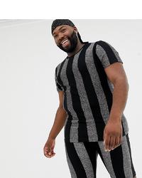 T-shirt à col rond à rayures verticales noir ASOS DESIGN