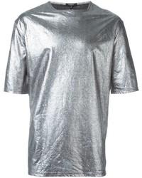 T-shirt à col rond argenté