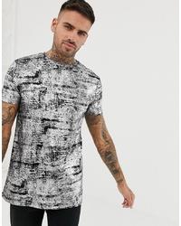 T-shirt à col rond argenté ASOS DESIGN
