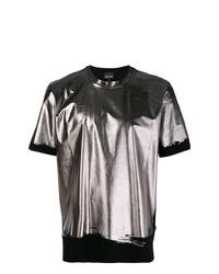 T-shirt à col rond argenté Just Cavalli