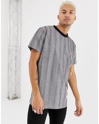 T-shirt à col rond argenté Night Addict