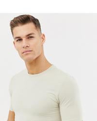 T-shirt à col rond beige ASOS DESIGN
