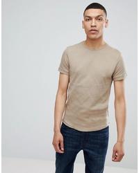 T-shirt à col rond beige Bellfield
