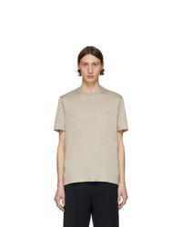 T-shirt à col rond beige Brioni
