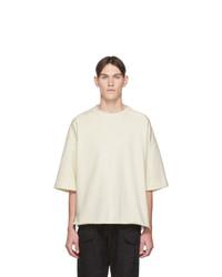 T-shirt à col rond beige Jil Sanderand