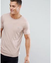 T-shirt à col rond beige Le Breve