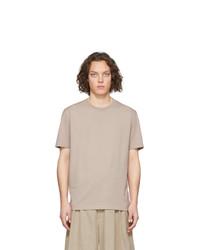 T-shirt à col rond beige Maison Margiela