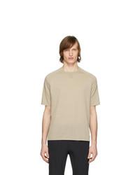 T-shirt à col rond beige Z Zegna