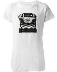 T shirt a col rond blanc et noir original 3141645