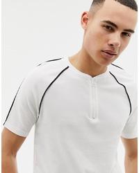 T-shirt à col rond blanc et noir ONLY & SONS