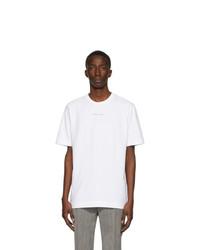 T-shirt à col rond blanc 1017 Alyx 9Sm