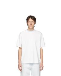 T-shirt à col rond blanc Acne Studios