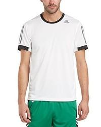 T-shirt à col rond blanc adidas