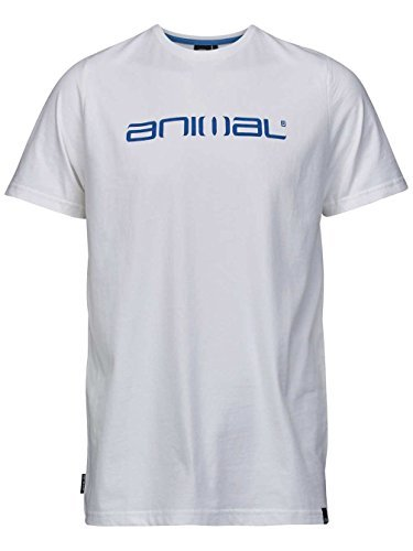 T-shirt à col rond blanc Animal