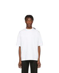 T-shirt à col rond blanc Balenciaga