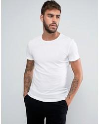 T-shirt à col rond blanc Calvin Klein