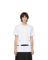 T-shirt à col rond blanc Comme Des Garcons Homme Plus