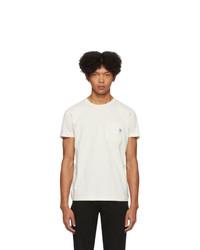 T-shirt à col rond blanc Diesel