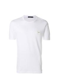 T-shirt à col rond blanc Dolce & Gabbana