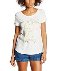 T-shirt à col rond blanc Esprit