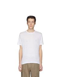 T-shirt à col rond blanc Etro